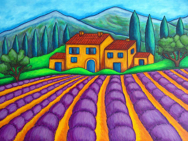 Provence Art Print featuring the painting Les Couleurs de Provence by Lisa Lorenz