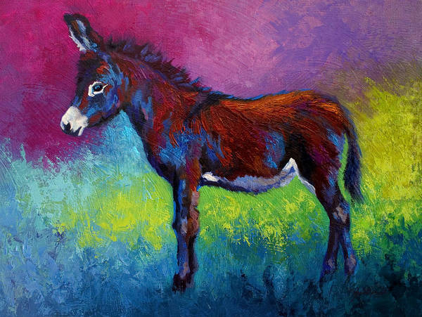 Burro Art Print featuring the painting Little Jenny by Marion Rose
