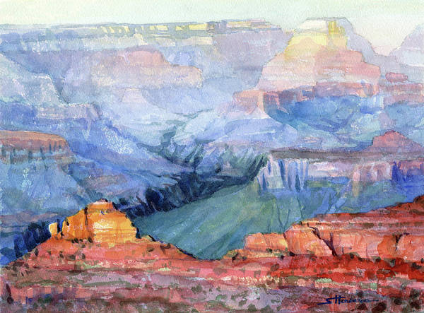 Grand Canyon Art Print featuring the painting Many Hues by Steve Henderson