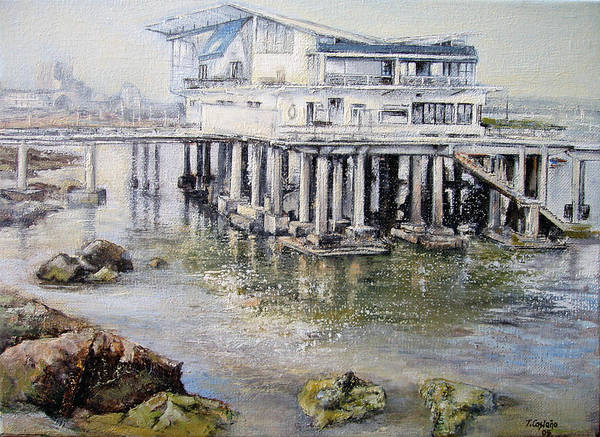 Maritim Art Print featuring the painting Maritim Club Castro Urdiales by Tomas Castano