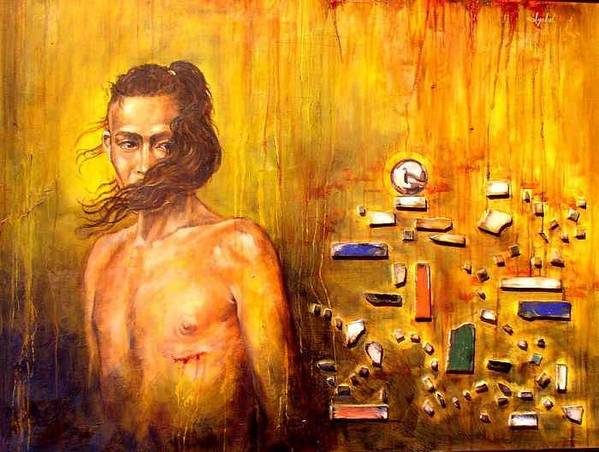 Meditation Art Print featuring the painting Meditation 2 by Ixchel Amor