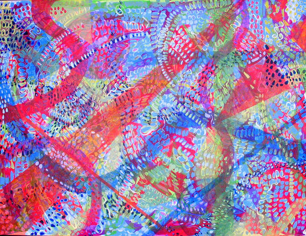 Dots Art Print featuring the painting Microcosm II by Rollin Kocsis