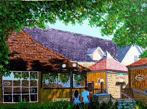 Original Oil On Canvas Art Print featuring the painting Nashville 3-06 by Stan Hamilton