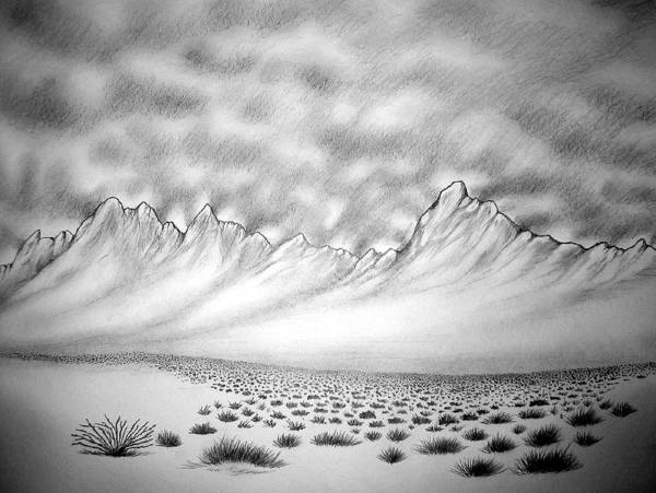 Art Print featuring the drawing New Mexico passage by Marco Morales