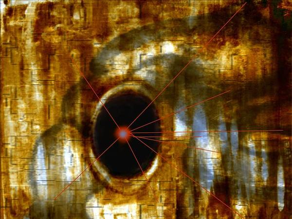 Abstract Figure In Form Art Print featuring the digital art Number 9 by Joseph Ferguson
