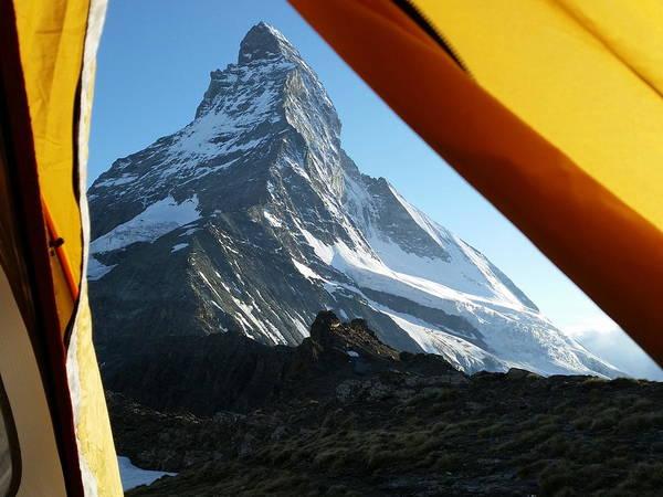 Matterhorn Art Print featuring the photograph Matterhorn Camping by Two Small Potatoes