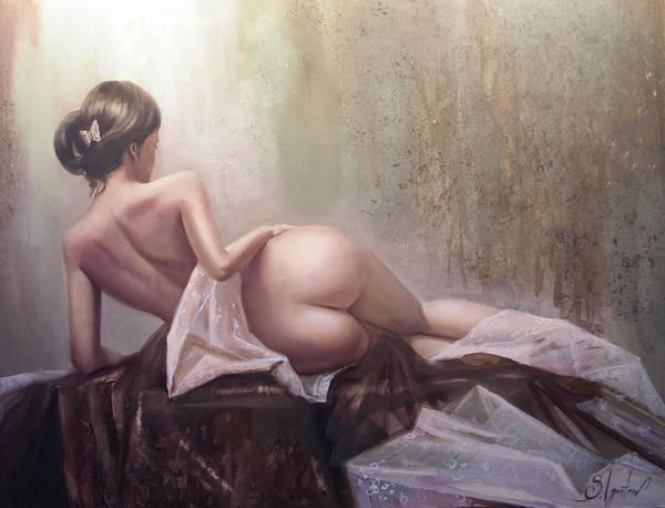 Art Art Print featuring the painting On the podium by Sergey Ignatenko