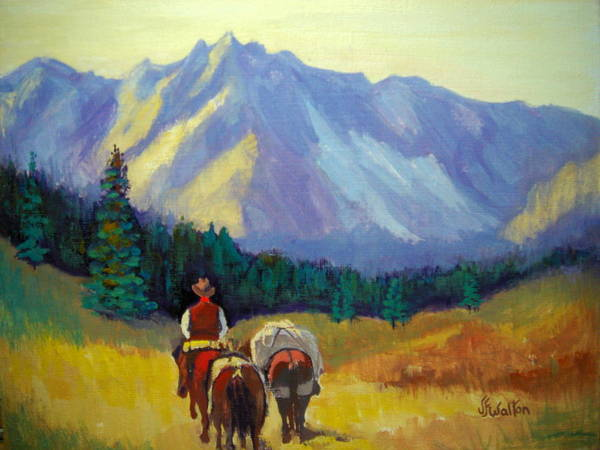 Packing In Art Print featuring the painting Packing In by Judy Fischer Walton
