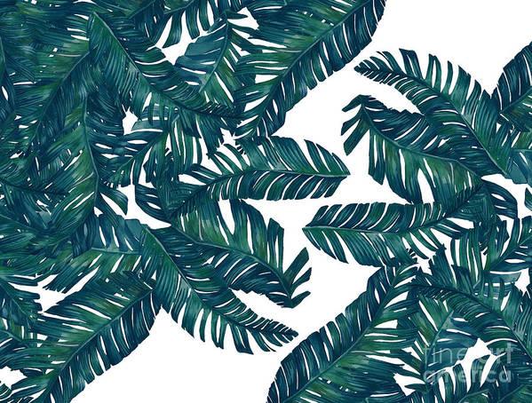Summer Art Print featuring the digital art Palm Tree 7 by Mark Ashkenazi