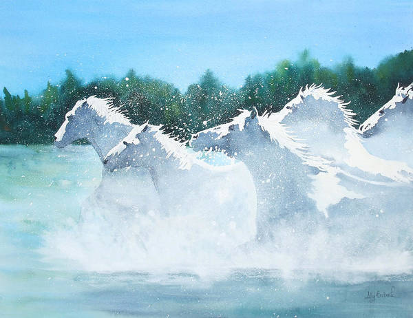 Horse Art Print featuring the painting Splash 2 by Ally Benbrook