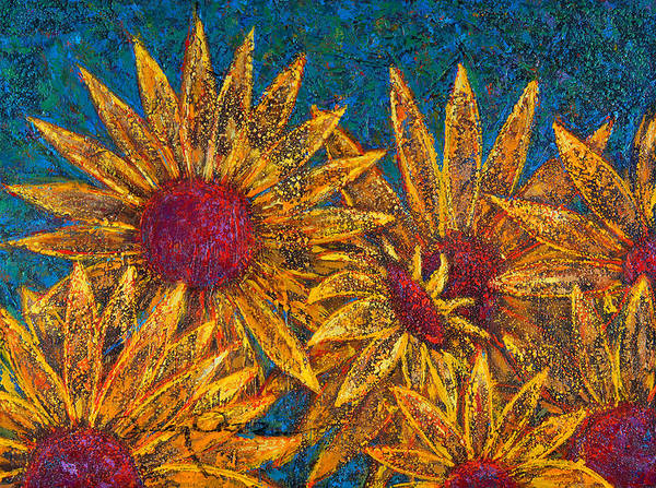 Flowers Art Print featuring the painting Positivity by Oscar Ortiz