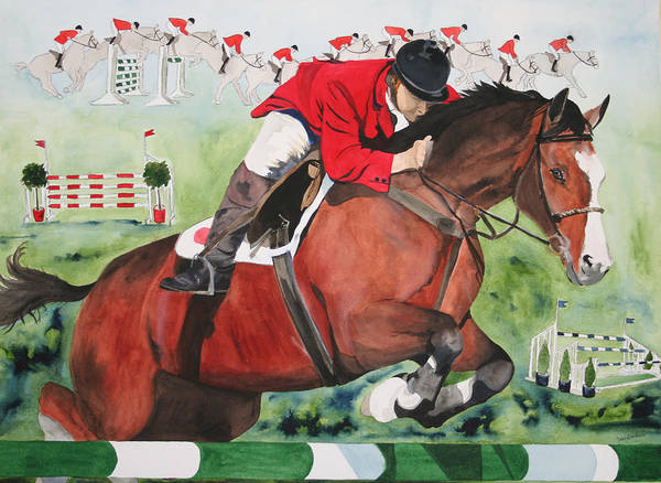 Horse Art Print featuring the painting Practice Makes Perfect by Jean Blackmer