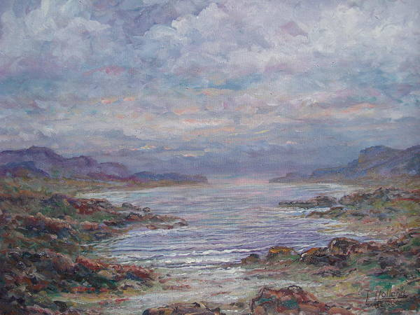 Painting Art Print featuring the painting Quiet Bay. by Leonard Holland