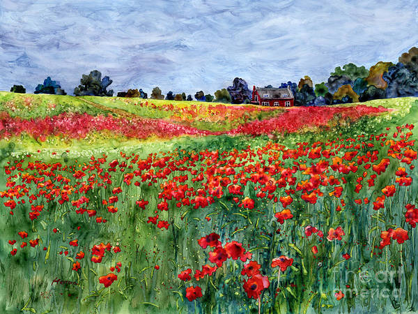 Poppy Art Print featuring the painting Red Carpet by Hailey E Herrera