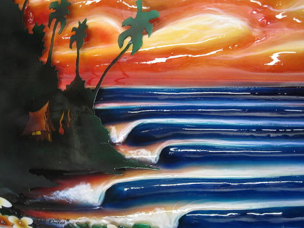 Surf Art Print featuring the sculpture Rincon by Ronnie Jackson