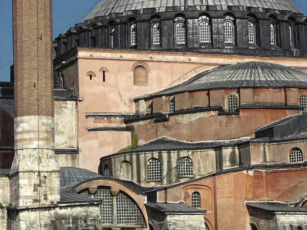 Roof Art Print featuring the photograph Roofscape Of The Hagia Sofia, Istanbul 2009 by Chris Honeyman