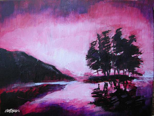 Ruby Dawn Art Print featuring the painting Ruby Dawn by Seth Weaver