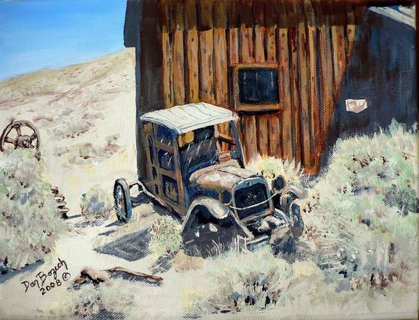 Old Dodge Bros. Truck; Berlin Art Print featuring the painting Rust in Peace by Dan Bozich