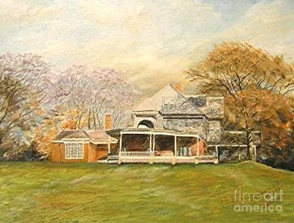 Landscape Painting Sagamore Hill. Art Print featuring the painting Sagamore Hill by Nicholas Minniti