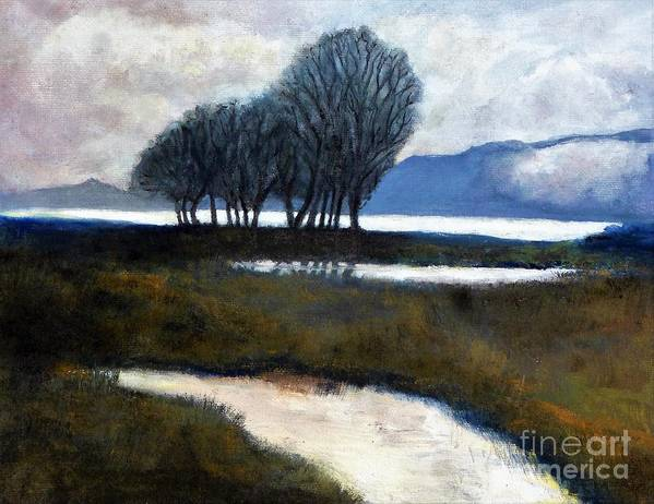 California Art Print featuring the painting Salton Sea Trees by Randy Sprout