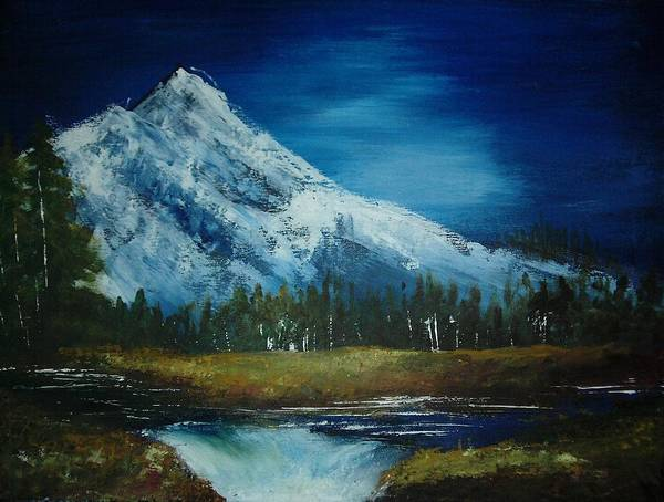 Mountain Art Print featuring the painting Sister Sister by Vi Mosley