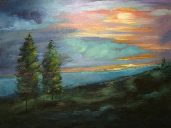 Landscape Art Print featuring the painting Soledad by Ginger Concepcion