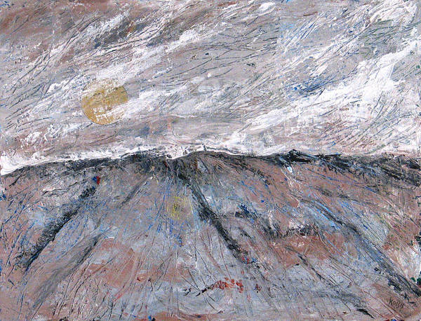 Mountains Art Print featuring the painting Somewhere Higher by Rollin Kocsis
