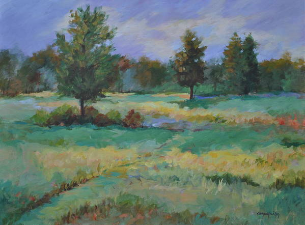 Pastorals Art Print featuring the painting South Pasture by Ginger Concepcion