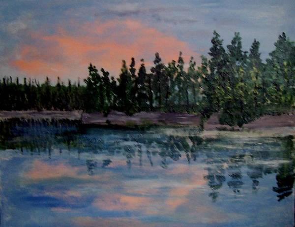 Beaches Art Print featuring the painting Still by Richard Hubal
