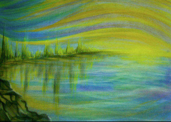 Sunrise Art Print featuring the pastel Sunrise by Pam Ellis