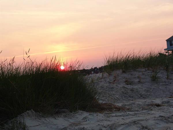 Dewey Beach Art Print featuring the photograph Sunset Dewey Beach by Kevin Callahan