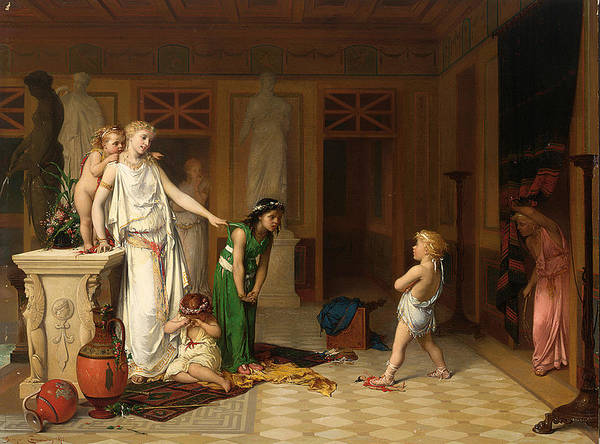 Pierre Olivier Joseph Coomans Art Print featuring the painting The Children's Quarrel by Pierre Olivier Joseph Coomans