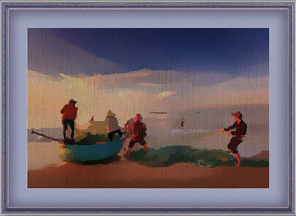Photo Art Print featuring the mixed media The Early Morning Catch by Clive Littin