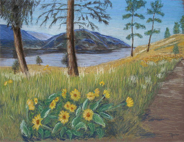 Lake View Art Print featuring the painting The Lake Trail by Marina Garrison