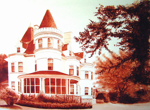 House Art Print featuring the painting The Patton House by Scott Robinson