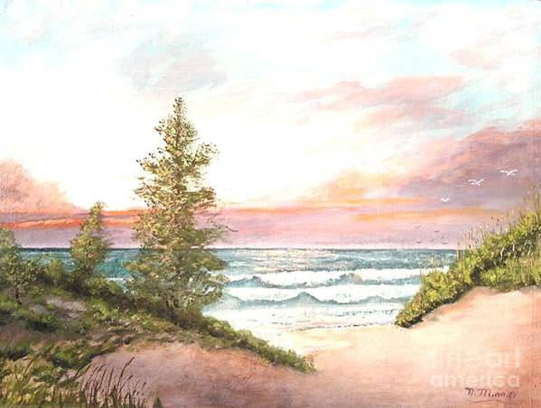 Shore Art Print featuring the painting The Shore by Nicholas Minniti