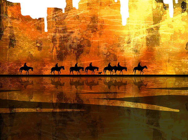 Native Americans Art Print featuring the painting The Weary Journey by Paul Sachtleben