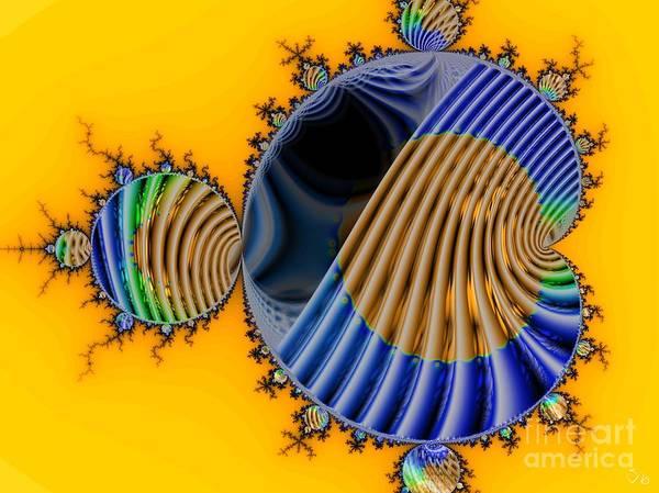 Julia Fractal Art Print featuring the digital art Thru a Julia Lens by Ron Bissett