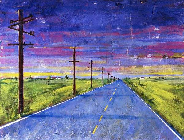 Road Art Print featuring the painting To Be With You by Rollin Kocsis
