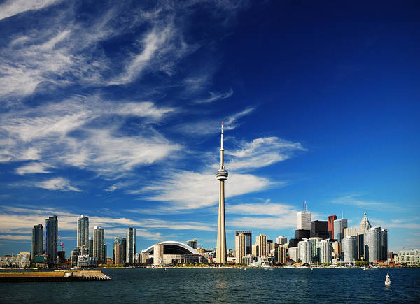 Toronto Art Print featuring the photograph Toronto skyline by Andriy Zolotoiy