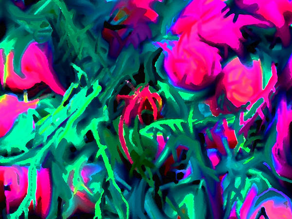 Abstract Art Print featuring the digital art Twisted by Ian MacDonald