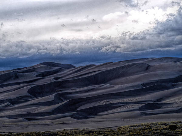 Great Sand Dunes National Park Art Print featuring the photograph Velvet at Night by Alana Thrower