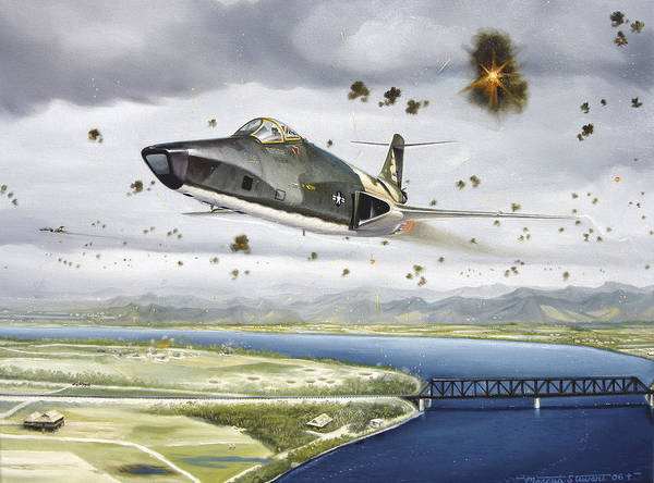 Military Art Print featuring the painting Voodoo Vs The Dragon by Marc Stewart