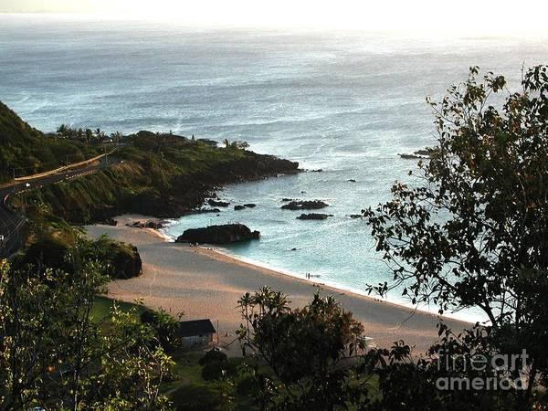 The Beach Art Print featuring the photograph Waimea Bay by Chandelle Hazen