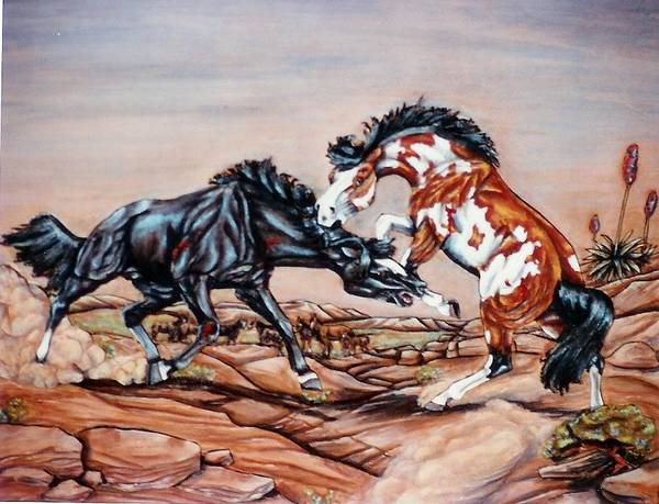 Leather Art Print featuring the painting Who the boss by Lilly King