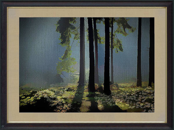 Wild Art Print featuring the mixed media Wild Daisies On The Forest Floor by Clive Littin