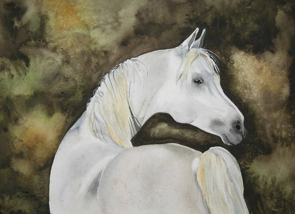 Horse Art Print featuring the painting You Talking To Me by Jean Blackmer