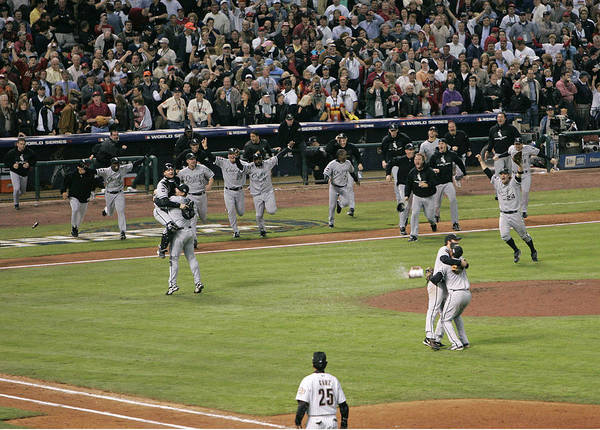 People Art Print featuring the photograph 2005 World Series - Chicago White Sox by G. N. Lowrance