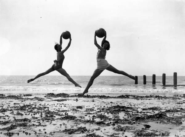 Worthing Art Print featuring the photograph Beach Dancers by Fox Photos
