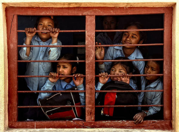 Nepal Art Print featuring the photograph Children Of Nepal - Series by Yvette Depaepe